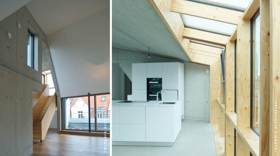 Dachausbau_Treppe und Fenster